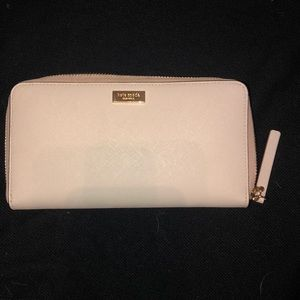 Kate spade large wallet! Light pink